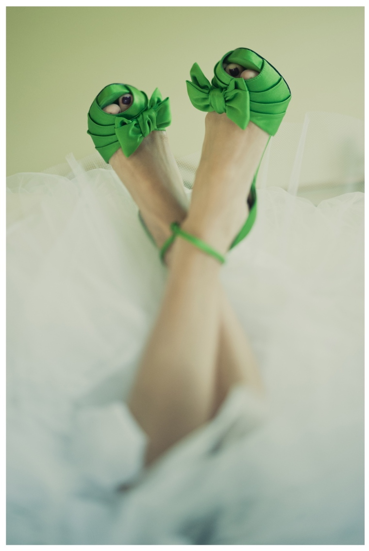 emerald wedding shoes