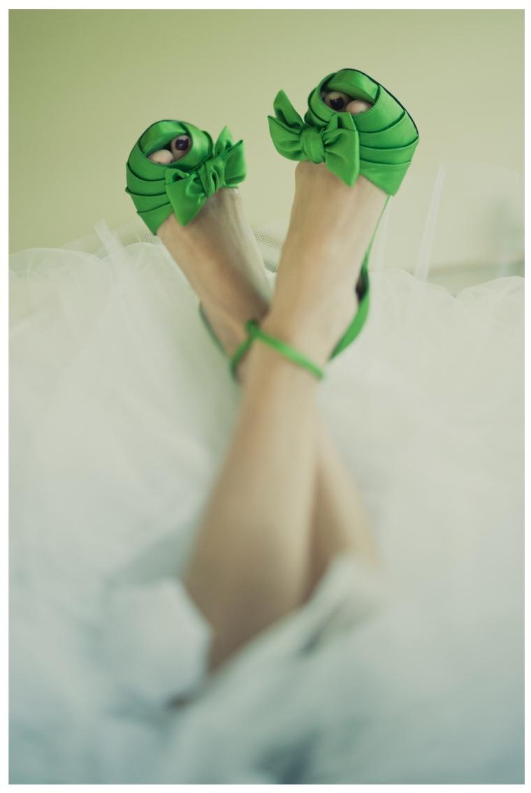 emerald wedding shoes