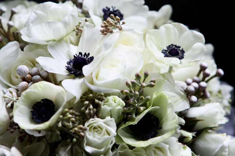 winter bridal bouquet - two little birds planning