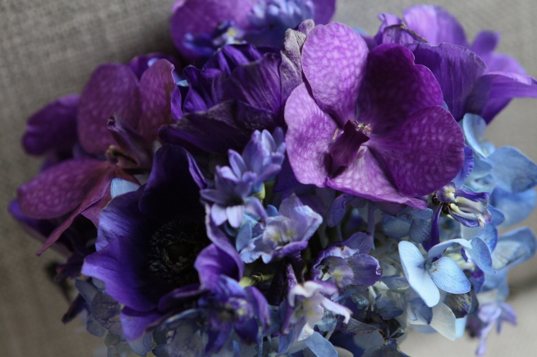 purple bridesmaids bouquet - two little birds planning