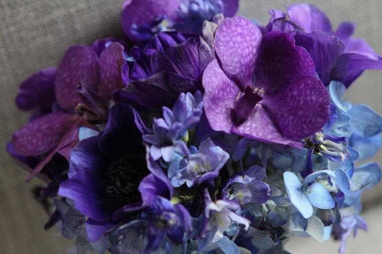 purple bridesmaids bouquet - two little birds planning