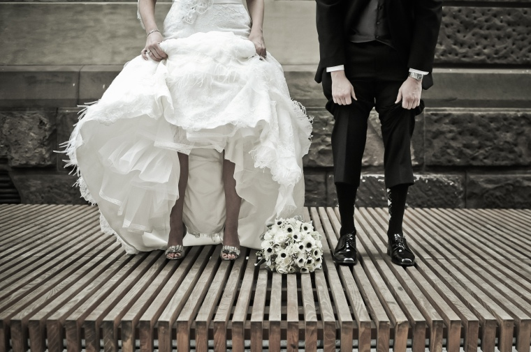fun wedding picture - two little birds planning