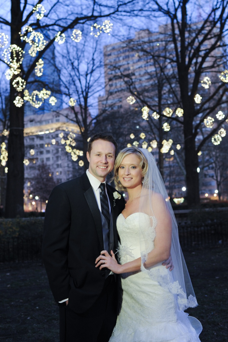 rittenhouse square wedding portrait - two little birds planning