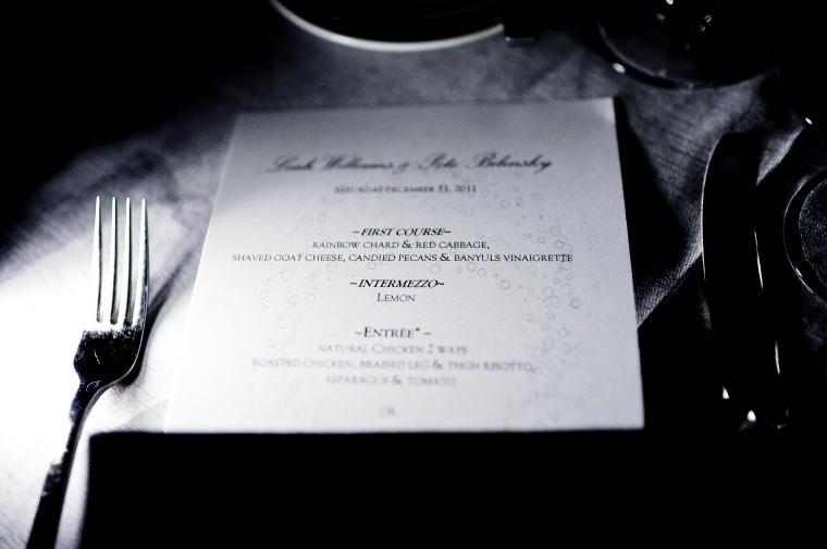 new years eve wedding menu - two little birds planning