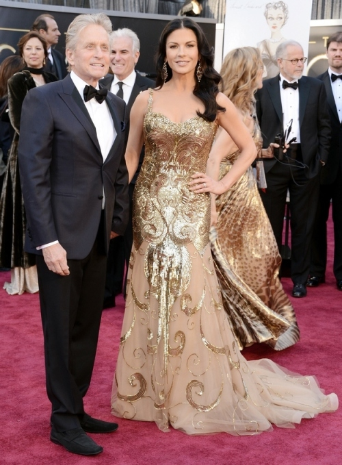 catherine zeta-jones oscar 2013 - two little birds planning