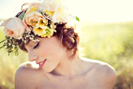 floral headpiece - two little birds planning