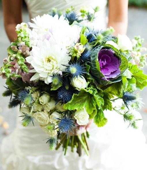 kale wedding bouquet
