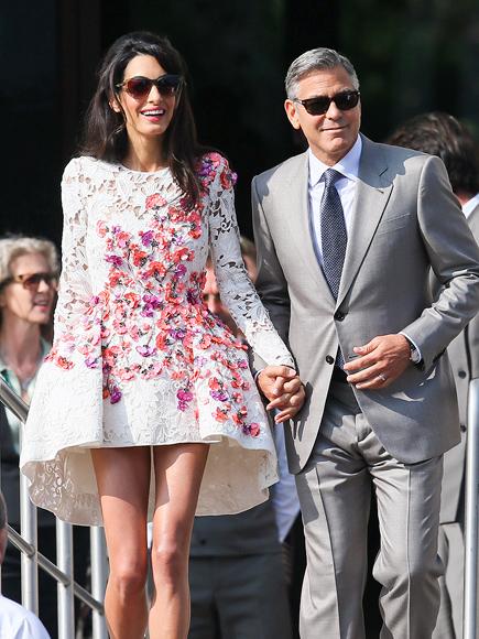 celebrity wedding: george clooney and amal alamuddin