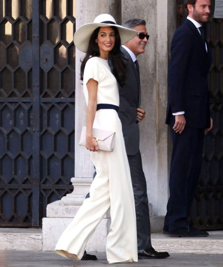 celebrity wedding: george clooney and amal alamuddin
