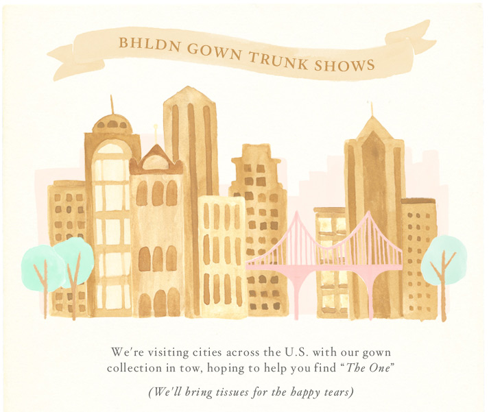bhldn gown trunk show