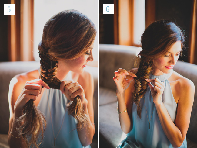 fishtail braid tutorial - two little birds planning