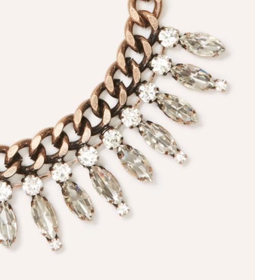crystal fan necklace - two little birds planning