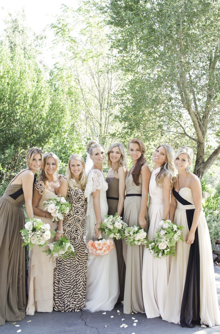 Molly-Sims-Bridesmaids-in-Mismatached-Gowns...-Animal-Print-Included